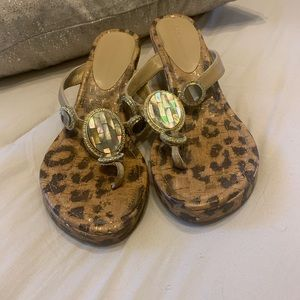 BCBGeneration cheetah wedges
